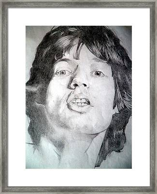 Mick Jagger - Large Framed Print by Robert Lance