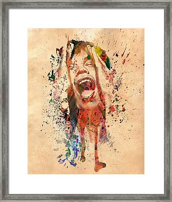 Mick Jagger Framed Print by Mark Ashkenazi