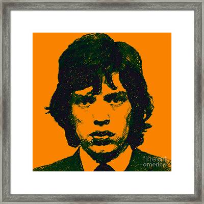 Mick Jagger Square Framed Print by Wingsdomain Art and Photography