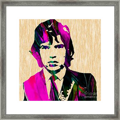 Mick Jagger The Rolling Stones Framed Print