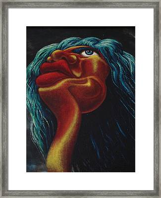 Mick Jagger's Image Framed Print by Genio GgXpress