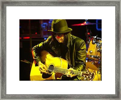 Mick Mars Motley Crue Framed Print by Don Olea