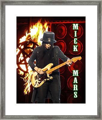 Mick Mars-motley Crue Framed Print by Matthew Breiter