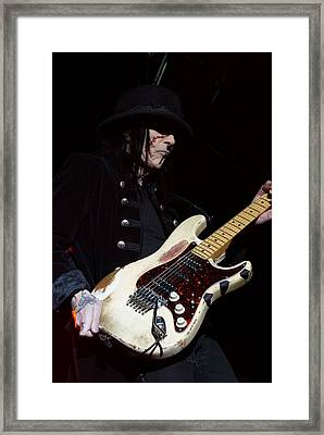 Mick Mars Solo Framed Print