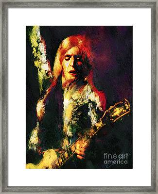 Mick Ronson Framed Print by John Lowther