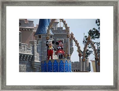 Mickey And Minnie In Living Color Framed Print