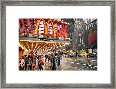 Mickey D's In Manhattan Framed Print by David Bearden