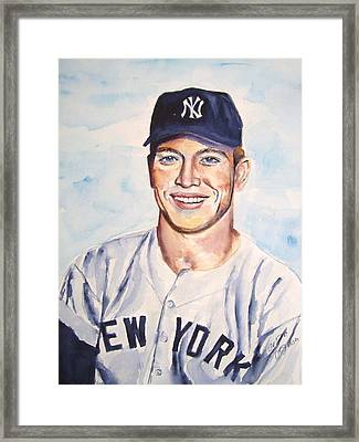 Mickey Mantle Framed Print by Brian Degnon
