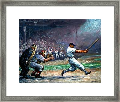 Mickey Mantle Framed Print by Clyde Singer