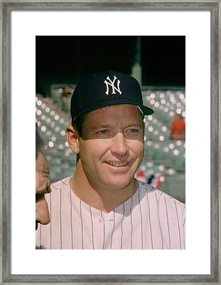 Mickey Mantle Famous Smile Framed Print by Retro Images Archive