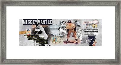 Mickey Mantle Panoramic Framed Print