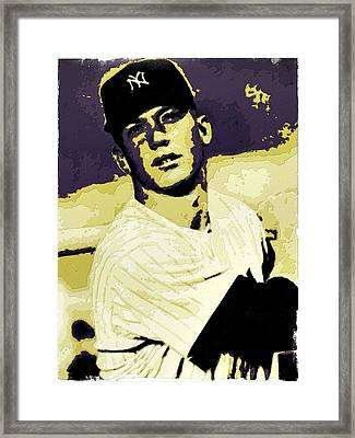 Mickey Mantle Poster Art Framed Print by Florian Rodarte