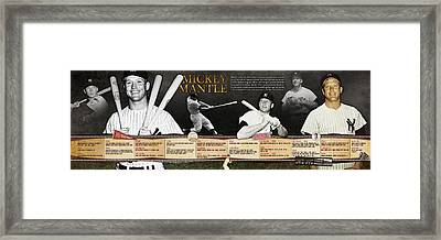 Mickey Mantle Timeline Panoramic Framed Print
