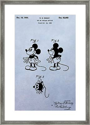 Mickey Mouse Patent Framed Print