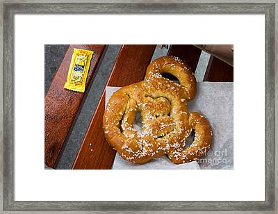 Mickey Mouse Shaped Pretzel Framed Print
