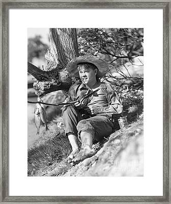 Mickey Rooney At Tom Sawyer Framed Print by MMG Archives