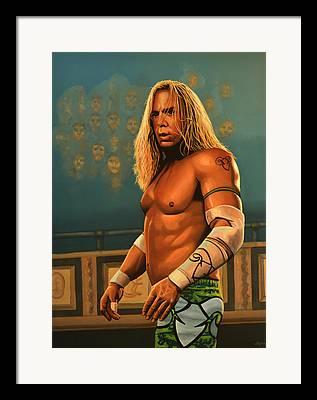 Wrestling Framed Prints