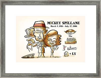 Mickey Spillane Framed Print