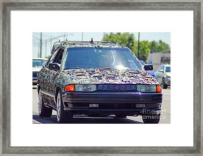 Micro Chip Car Framed Print by Optical Playground By MP Ray