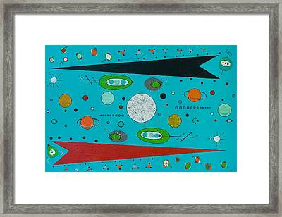 Micro Cosmic A Space Odyssey Framed Print by Debra Jacobson