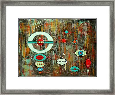 Micro Cosmic - Mother Ship Framed Print by Debra Jacobson