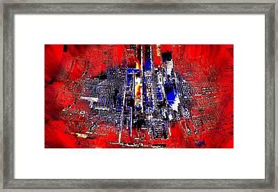 Digital Construction Framed Print
