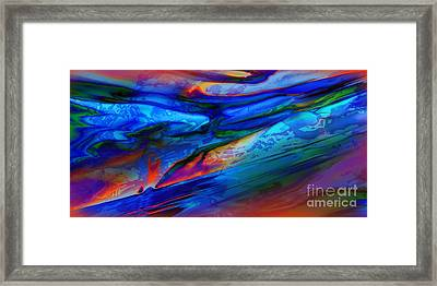 Micro Intensity Of Melancholy Flicker Framed Print