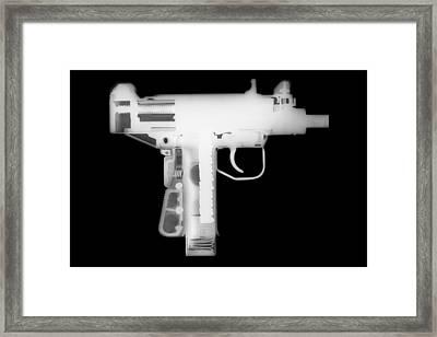 Micro Uzi Reverse Framed Print by Ray Gunz