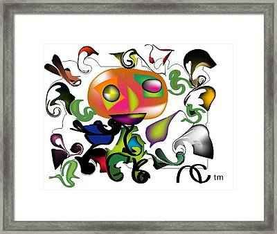 Microbiological Framed Print by Andy Cordan