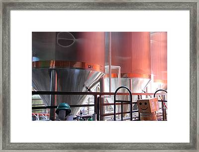 Microbrew Smile Framed Print by Kendell Timmers