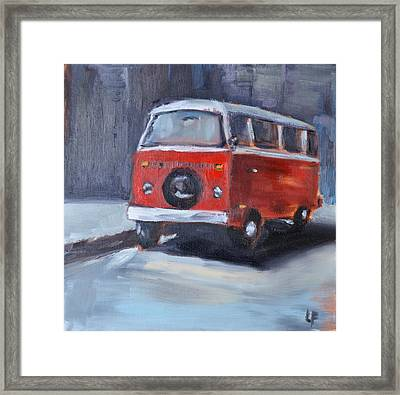 Microbus Framed Print by Lindsay Frost