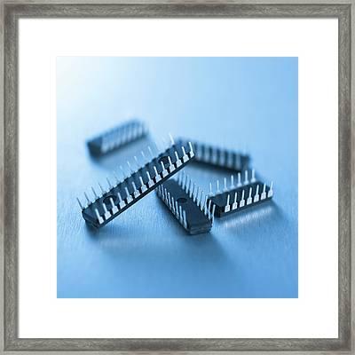 Microchips Framed Print