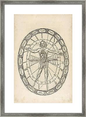 Microcosm And Macrocosm, 17th Century Framed Print by Asian And Middle Eastern Division