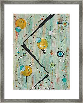 Microcosmic Outerspace Shindig Framed Print by Debra Jacobson