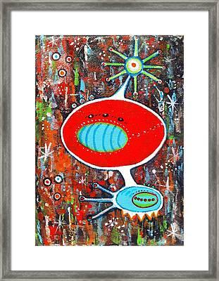 Microcosmic Twilight Framed Print by Debra Jacobson