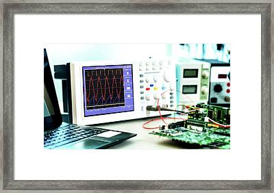 Microelectronics Lab Framed Print by Wladimir Bulgar
