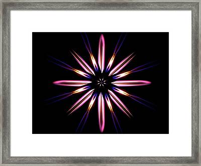 Microgravity Flames Artwork Framed Print by Nasa