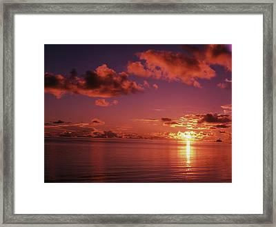 Micronesia, Palau, Koror, View Of Sea Framed Print by Stuart Westmorland