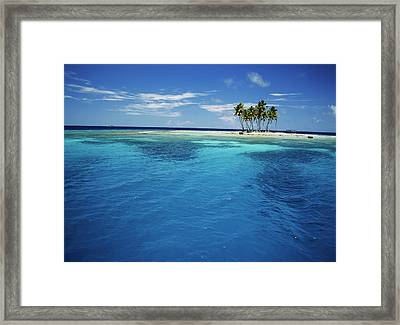 Micronesia, Tonowas, View Of Idyllic Framed Print by Stuart Westmorland