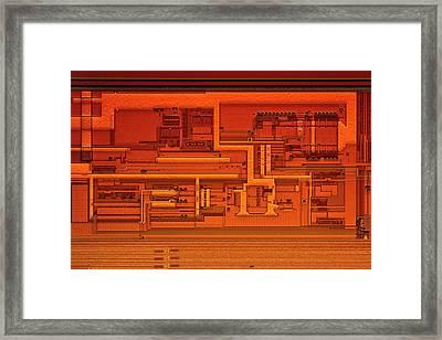 Microprocessor Clock Driver Framed Print by Antonio Romero
