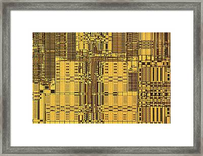 Microprocessor Instruction Decode Unit Framed Print by Antonio Romero