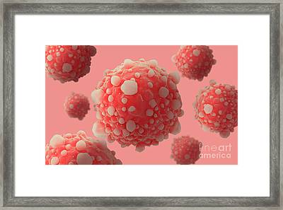 Microscipic View Of Pancreatic Cancer Framed Print by Stocktrek Images