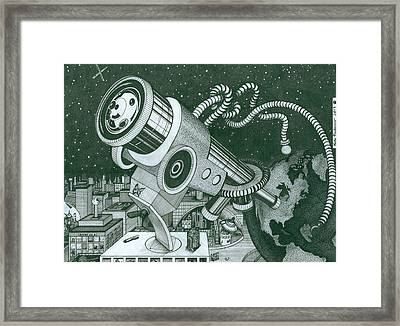 Microscope Or Telescope Framed Print by Richie Montgomery