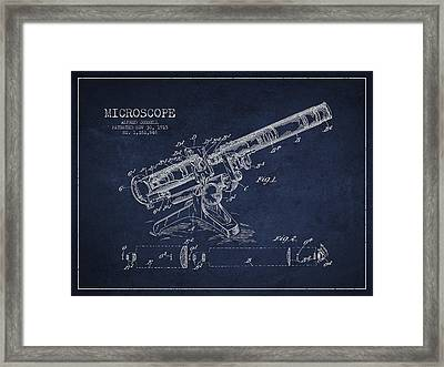 Microscope Patent Drawing From 1915 Framed Print