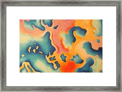 Microscopic Landscape Framed Print