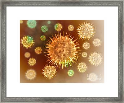 Microscopic View Of Cancer Cells Framed Print by Stocktrek Images