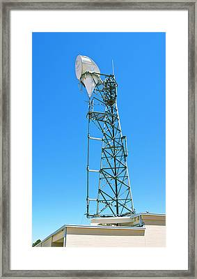 Microwave Horn Antenna. Framed Print by Mark Williamson
