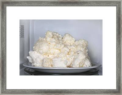 Microwaved Soap Framed Print by Cordelia Molloy