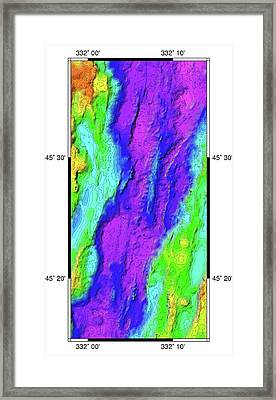 Mid-atlantic Ridge Framed Print by B. Murton/southampton Oceanography Centre