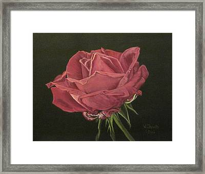 Framed Print featuring the painting Mid Bloom by Wendy Shoults